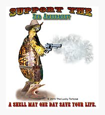 Support the 2nd Amendment Cowboy Turtle Photographic Print