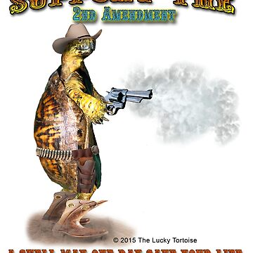 Support the 2nd Amendment Cowboy Turtle by LuckyTortoise