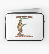 Support the 2nd Amendment Cowboy Turtle Laptop Sleeve