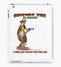 Support the 2nd Amendment Cowboy Turtle iPad Case/Skin
