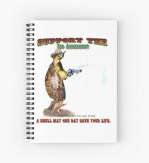 Support the 2nd Amendment Cowboy Turtle Spiral Notebook