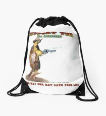 Support the 2nd Amendment Cowboy Turtle Drawstring Bag