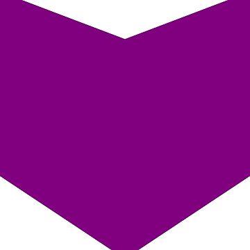 Avengers Hawkeye Purple Arrow Emblem Tshirt by doubledagger