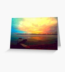 Dock and the Sunset Greeting Card