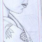 giesha sketch by Leanne Inwood
