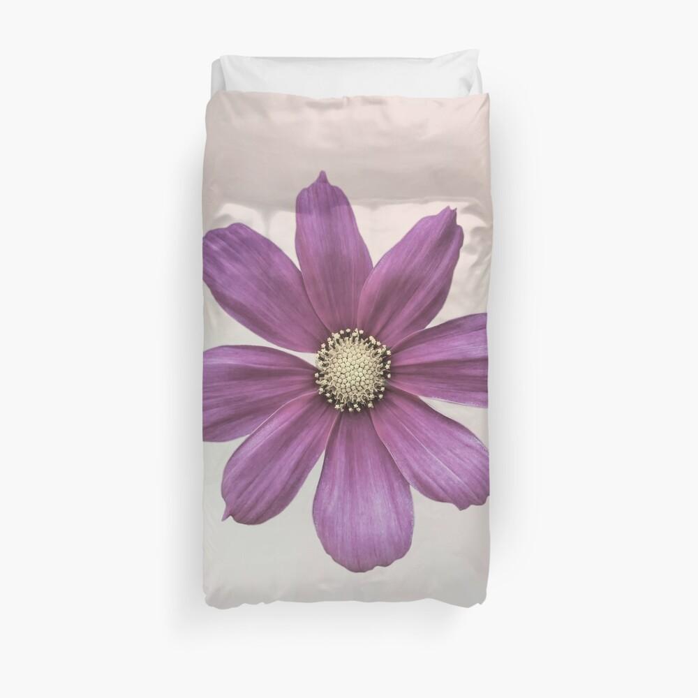 Purple Cosmos Flower Duvet Cover