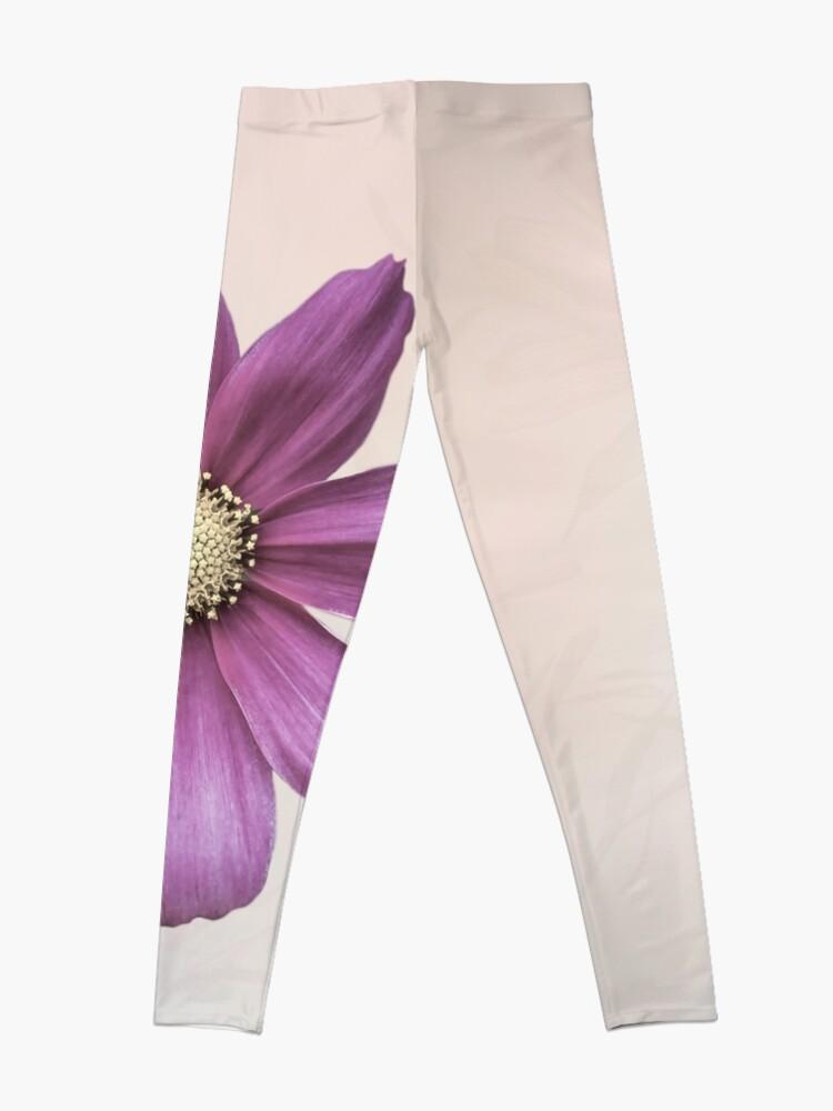 Alternate view of Purple Cosmos Flower Leggings