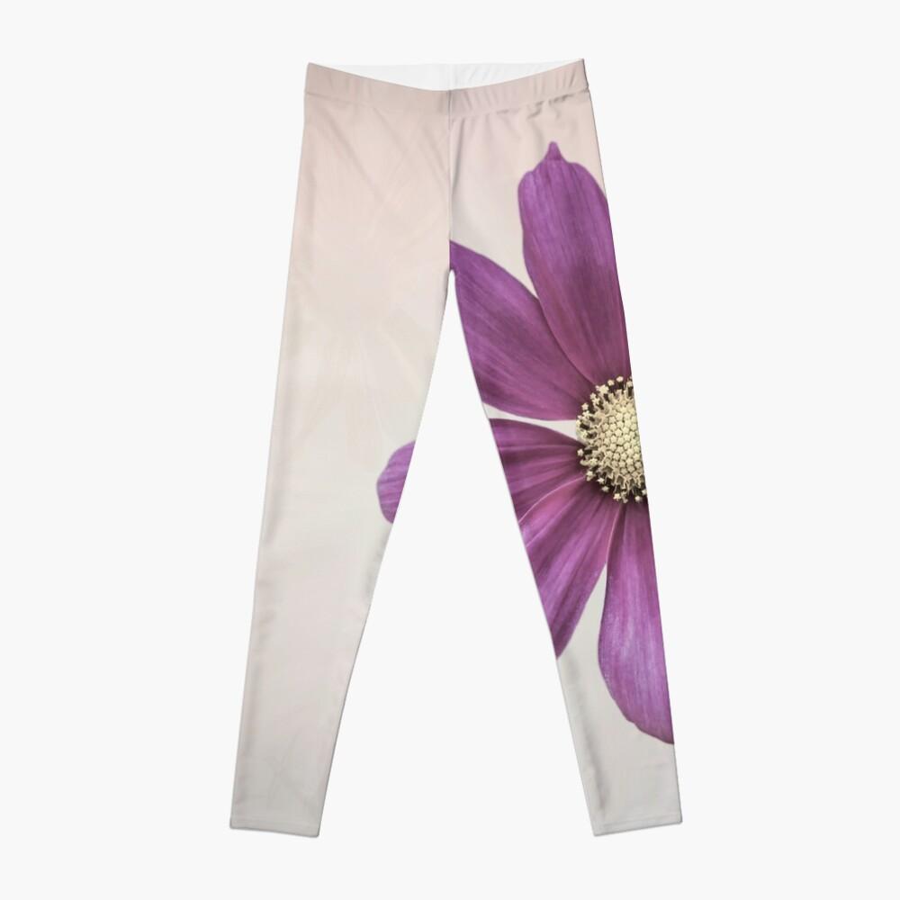 Purple Cosmos Flower Leggings