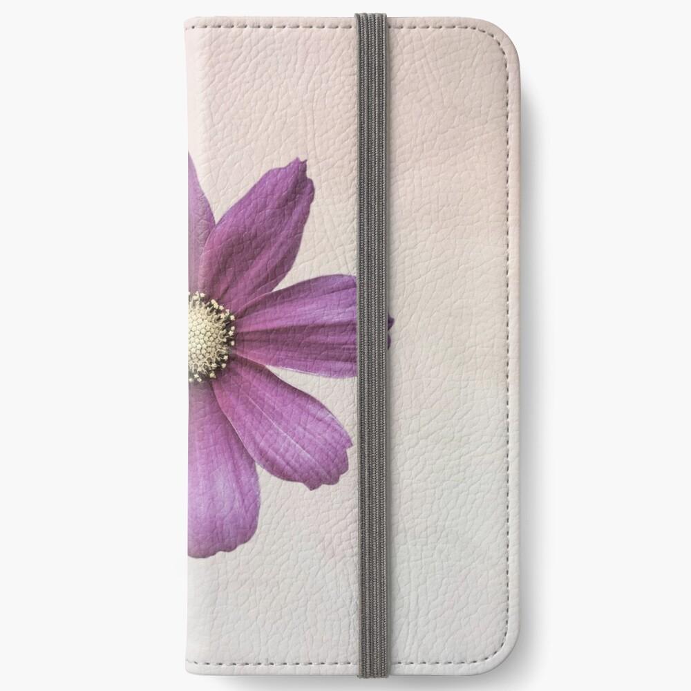 Purple Cosmos Flower iPhone Wallet
