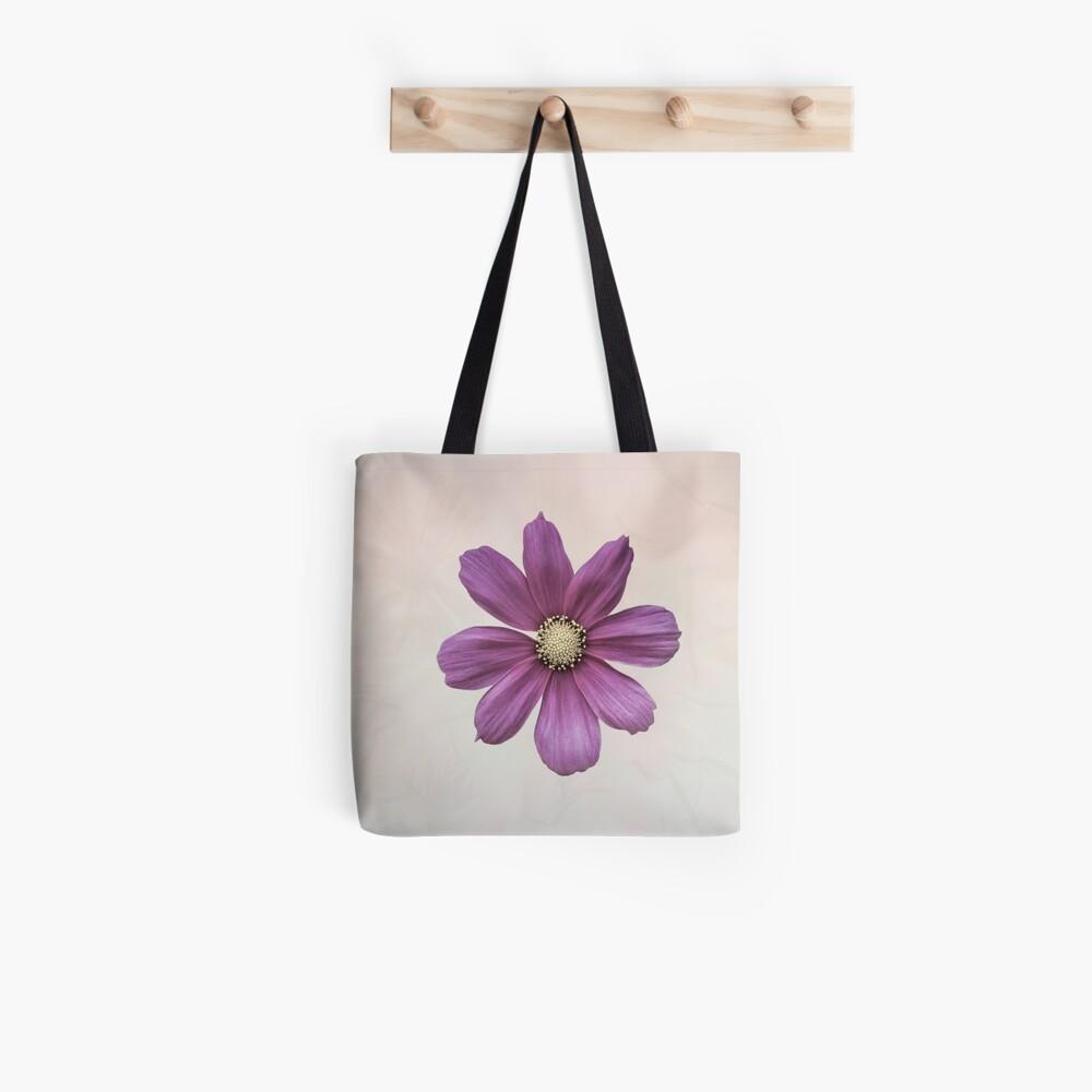 Purple Cosmos Flower Tote Bag