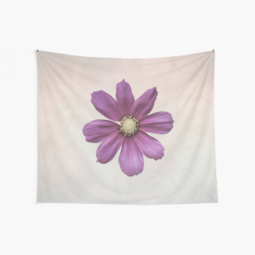 Purple Cosmos Flower Wall Tapestry