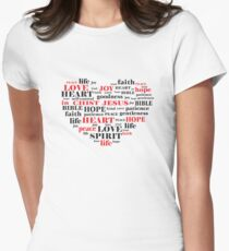 fruit of the spirit,Galatians 5:22-23,Christian Bible Verse Quote Women's Fitted T-Shirt