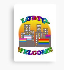 LGBTQ+  Welcome Canvas Print