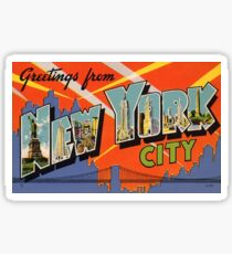 New York City Weinlese Sticker