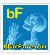 Blunt Farce square sticker 3 inch / 7.62cm Sticker