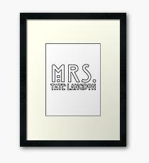 mrs. tate Framed Print