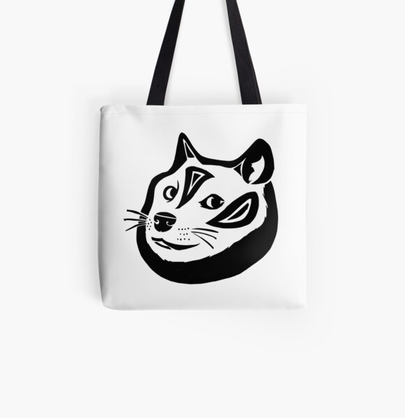Tribalish Doge All Over Print Tote Bag