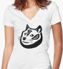 Tribalish Doge Fitted V-Neck T-Shirt
