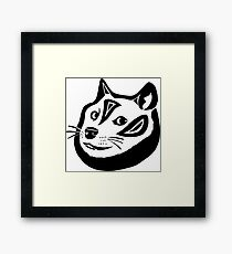 Tribalish Doge Framed Print