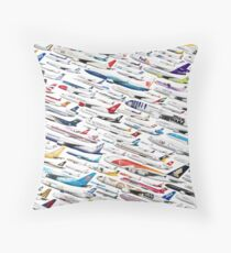 Airliners by The Art of Flying Throw Pillow