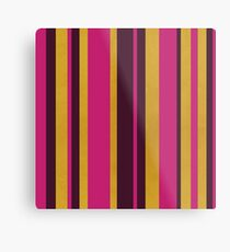 Gold Stripes Metal Print