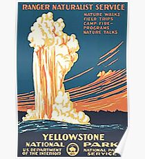 Yellowstone Nationalpark Weinlese Poster