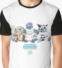 Ice-Type Pokemon Graphic T-Shirt