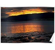 Sunset over the Beauly Firth Poster