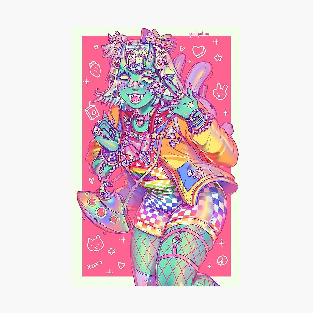 Decora Monstergirl Fotodruck