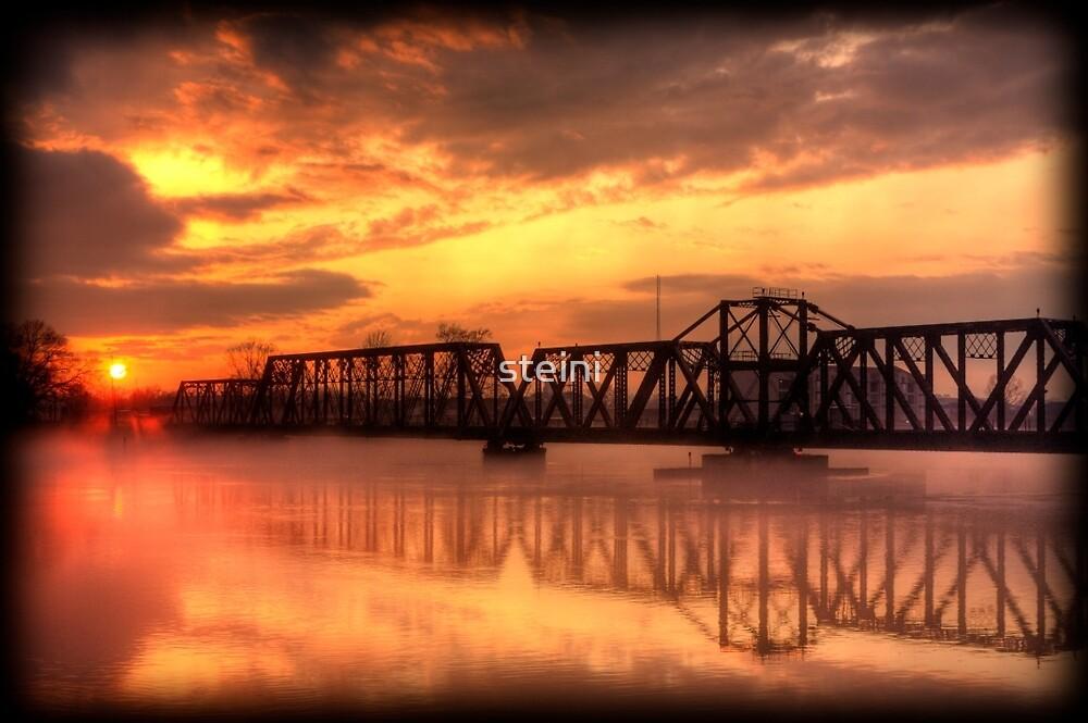 Bridge at Sunset by steini