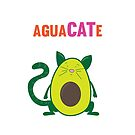 AguaCATe, The Avocado Cat by ThePrintPuffin