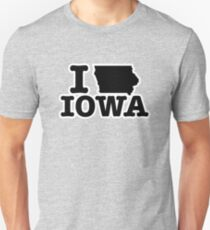 I Love Iowa Unisex T-Shirt