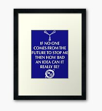 Nerd Time Travel Framed Print