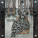 Swamp Music Players,The Ferryman & a black widow bayou gothic noir Baron Samedi, voodoo by swampmusicinfo