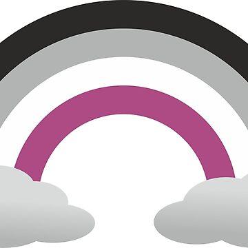 Asexual Rainbow LGBTQ+ Sticker by DaniiAnn