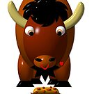 3-D Look Buffalo with Beef on Weck and Buffalo Wings by Artist4God
