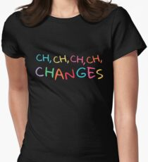 CHANGES - Shirts And Gifts For David Bowie Fans Women's Fitted T-Shirt