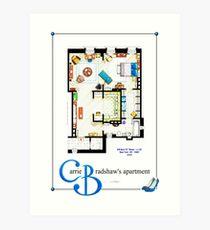 Carrie Bradshaws apartment as a Poster (TV version) Art Print