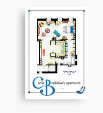 Carrie Bradshaws apartment as a Poster (TV version) Canvas Print