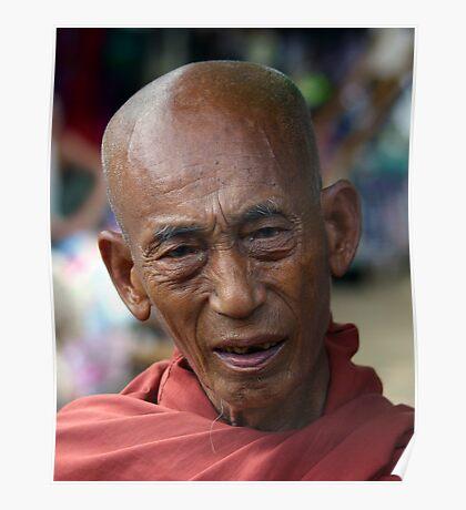 Buddhist monk, Katha, Burma Poster