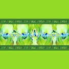 Green Iris Border by LaRoach
