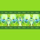 Green Iris Border by LaRoach