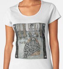 Swamp Music Players,The Ferryman & a black widow bayou gothic noir Baron Samedi, voodoo Women's Premium T-Shirt