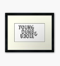 Young, Dumb & Broke Framed Print