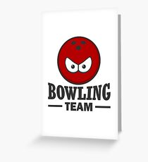 bowling team Greeting Card