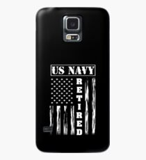 US NAVY Retired - American Flag Tee Case/Skin for Samsung Galaxy