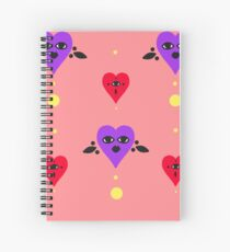 All Seeing Hearts Notebook Spiral Notebook