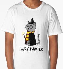 Hairy Pawter Cat Long T-Shirt