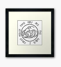 You are the wave... Framed Print