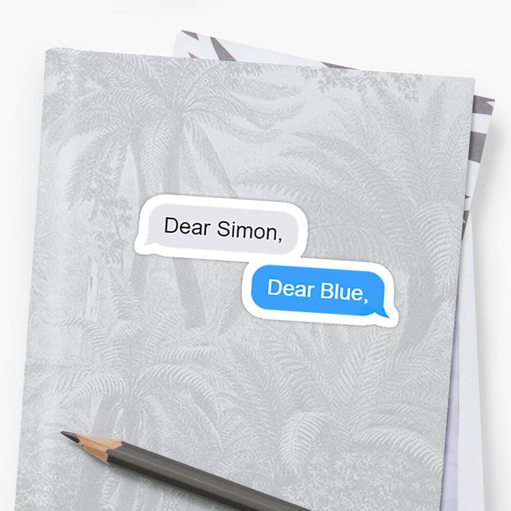 Dear Simon by Sara-Lillian